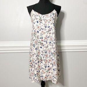 Lush Floral Strappy Back Mini Shift Dress